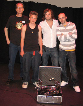 Picture From left to right: Toni Cannelli, Josh Devine, Leo Crabtree, Pete Ray Biggin.